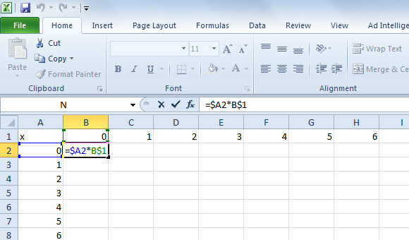 Writing Simple Formulas in Excel