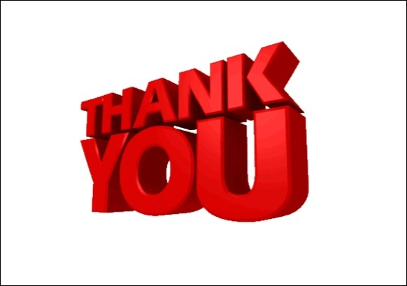 Powerpoint animated thank you clipart negle Images