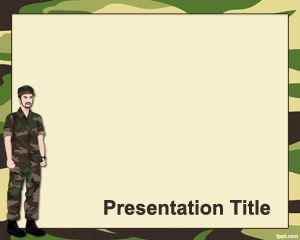 Military Powerpoint-Vorlage