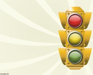 Modèle Traffic Lights PowerPoint