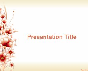 Template 3d Flower PowerPoint