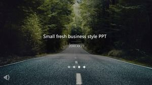 Small fresh business style PPT template
