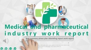 Medical and health care industry work summary report PPT template