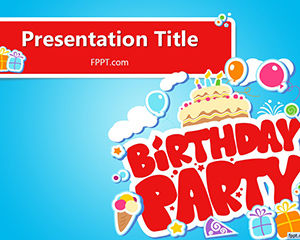 Free Happy Birthday Powerpoint-Vorlage