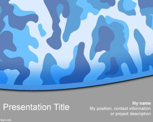 Format Navy Camo PowerPoint