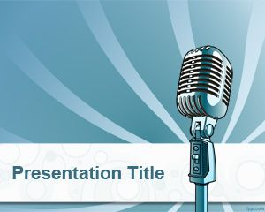 Online Radio PowerPoint Template