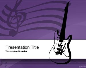Music Equipment PowerPoint Template