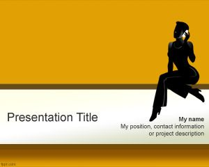 Talkative Woman PowerPoint Template