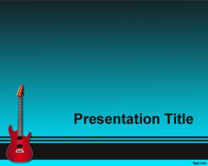 Electric Guitar PowerPoint Template