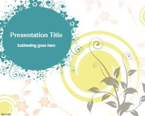 Plantilla de PowerPoint simple con las flores