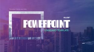 Gradient text creative concise atmospheric business style work report ppt template (2 sets)