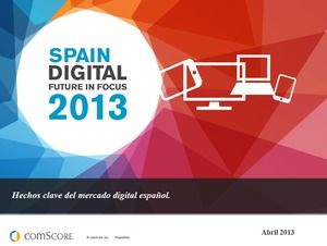 2013 Spanish digital product market trend analysis ppt template