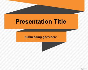 Simple Template Origami PowerPoint