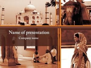 Indian scenery ppt template