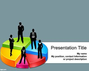 Business 3D Pie Chart Template pentru PowerPoint