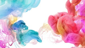 Color paint smoke PPT background picture