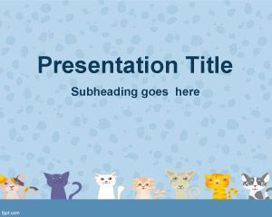 Cats Background for PowerPoint
