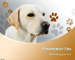 Template Labrador Retriever Dog PowerPoint