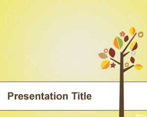 Tree with Leaves PowerPoint Template
