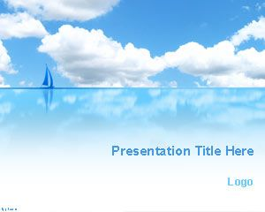 Blue Sea and Sky PowerPoint Template