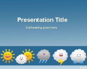 Modèle Weather Forecast PowerPoint