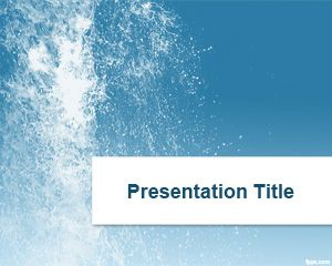 Splash Water Powerpoint-Vorlage