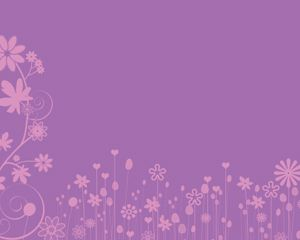 Pink Flowers Power Point Template