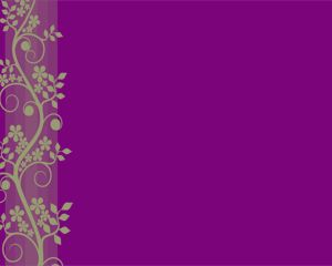 Violet Flower Power Point Template