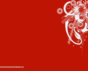 Free Red Background Template for PowerPoint