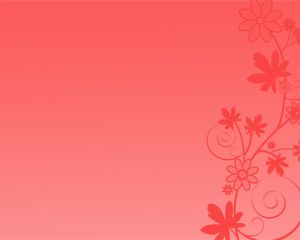 Template Red Flowers Power Point