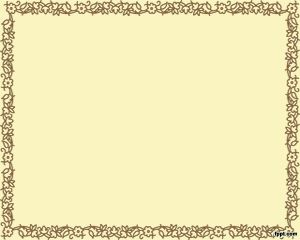 PowerPoint Frame Brown