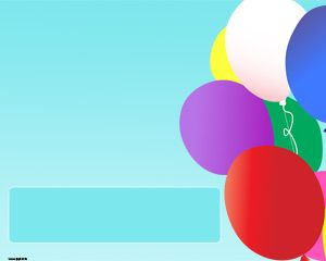 Colorful Balloons PPT Template