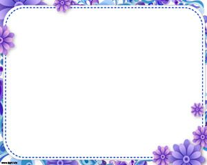 Sweet Floral Frame Powerpoint
