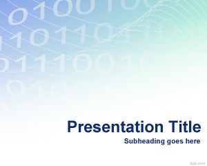 Digitale Binary Powerpoint-Vorlage