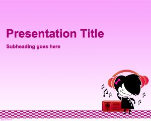 Teen Music PowerPoint Template