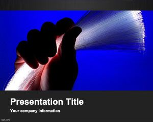 Optical Fiber PowerPoint Template