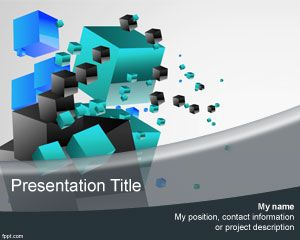 3D Cubes PowerPoint Template