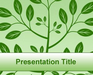 Green Tree PowerPoint Template