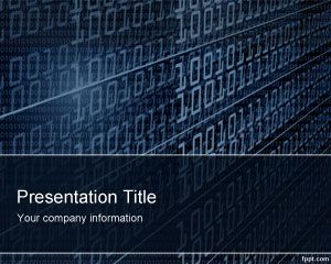 Template Tecnologia Binary PowerPoint