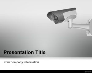 Template CCTV Camera PowerPoint