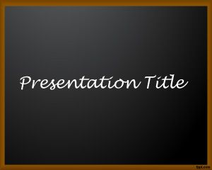 Template School Board PowerPoint