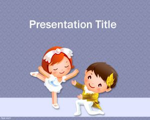 Cartoon Dancing PowerPoint Template