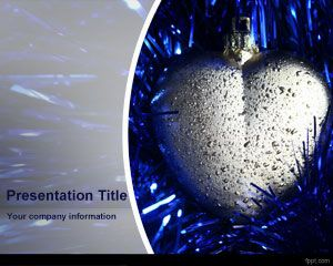 Template Silver Heart PowerPoint