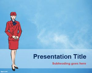 Fly Hostess PowerPoint Template