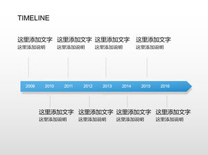 19-page timeline PPT template collection