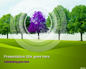 Modèle Tree Line PowerPoint