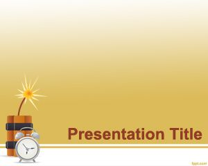 Template Time Bomb PowerPoint