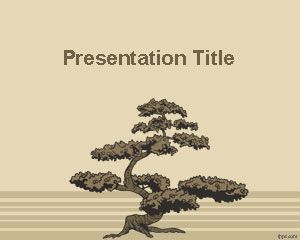 Bonsai Tree PowerPoint Template