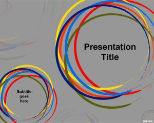 Color Circles PowerPoint Template