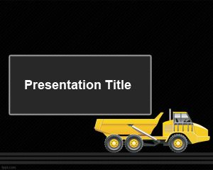 Template Articulated Truck PowerPoint